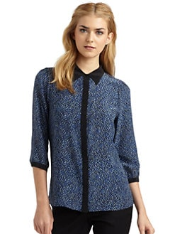 Rachel Zoe - Simone Button-Front Silk Blouse