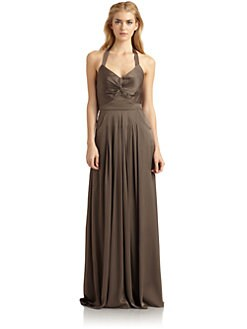 Rachel Zoe - Victoria Stretch Silk Halter Gown