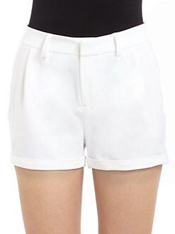 Catherine Malandrino - Pleated Front Shorts