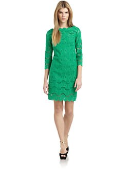 Catherine Malandrino - Cotton Embroidered Sheath Dress