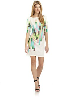 Catherine Malandrino - Sunrise Stroke Print Dress