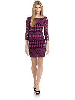 Catherine Malandrino - Cotton Geometric Cutout Sheath Dress