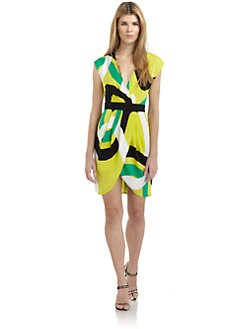 Catherine Malandrino - Abstract Mock Wrap Dress
