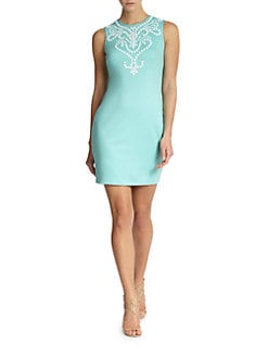 Cynthia Steffe - Natalie Embellished Bib Shift Dress