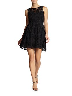 Cynthia Steffe - Tixie Textured Lace Dress