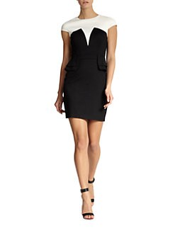 Cynthia Steffe - Emily Colorblock Cap Sleeve Dress
