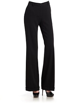 Moschino - Wide-Leg Cuffed Pants