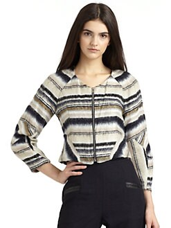 Vena Cava - Striped Short Jacket