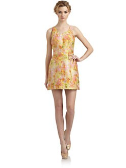 Free People - Rose Brocade Floral Dress