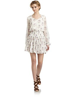 Free People - Wildflower Chiffon Ruffle Dress