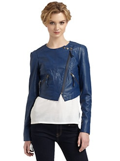 Free People - Faux Leather Cropped Jacket