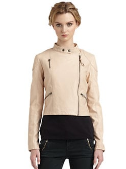 Free People - Sunburst Faux Leather Moto Jacket