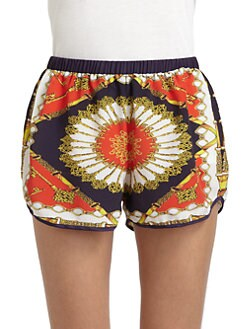 Torn - Maggie Scarf-Print Shorts