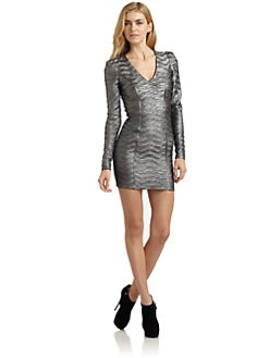 Torn - Donna Metallic Long-Sleeve Dress