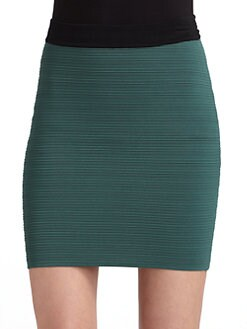 Cut 25 by Yigal Azrouel - Techno Colorblocked Skirt