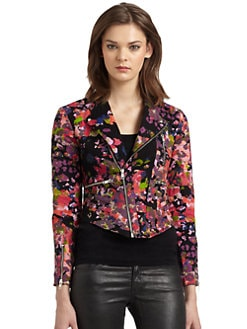 W118 by Walter Baker - Emmet Floral-Print Motorcycle Jacket