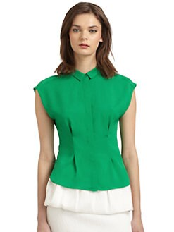 W118 by Walter Baker - Reese Cap Sleeve Button-Front Blouse
