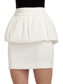 W118 by Walter Baker - Quinn Textured Peplum Skirt