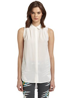 W118 by Walter Baker - Theo Sleeveless Button-Front Blouse