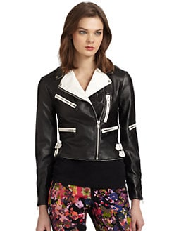 W118 by Walter Baker - Brody Faux-Leather Motorcycle Jacket