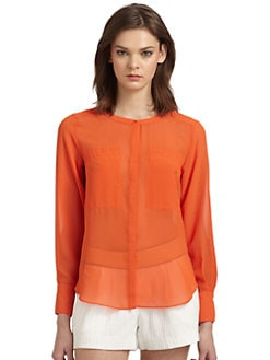W118 by Walter Baker - Brenden Long Sleeve Button-Front Blouse
