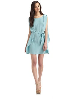 Hunter Dixon - Mueller Silk Flutter Dress/Blue Nile