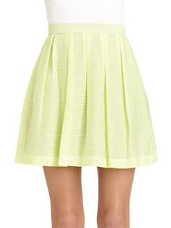 Rebecca Minkoff - Femi Striped Pleated Skirt