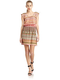 Rebecca Minkoff - Dune Silk Ikat Print Dress
