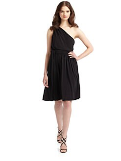 Halston Heritage - One Shoulder Dress