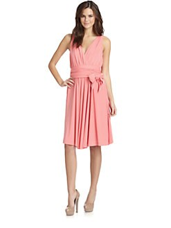 Halston Heritage - Wrap Bodice Dress