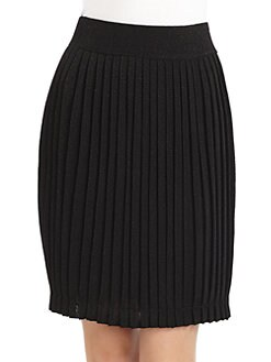 Halston Heritage - Knit Pleated Skirt