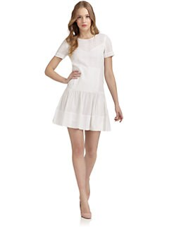 Jill Stuart - Delfine Eyelet Drop Waist Dress