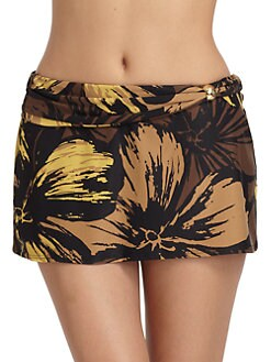 Carmen Marc Valvo - Floral Skirt Coverup