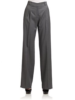 Giorgio Armani - Pleated Wool Trousers/Charcoal
