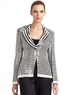 Giorgio Armani - Silk Sequined Stripe Jacket