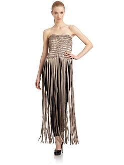 Giorgio Armani - Embellished Ribbon Corset Dress