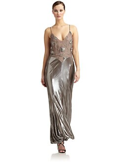 Giorgio Armani - Beaded Bust Crossback Gown