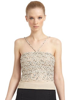 Giorgio Armani - Beaded Crop Top