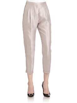 Piazza Sempione - Pleated Silk Pants