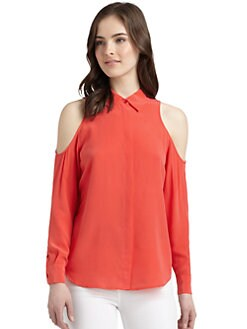 Equipment - Nixie Silk Cutout Detail Blouse