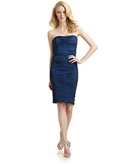 Nicole Miller - Metallic Crinkle Dress/Navy