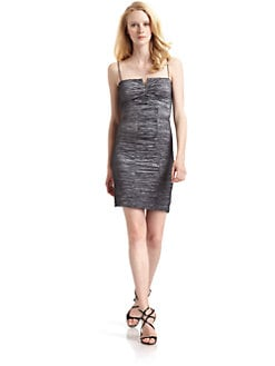 Nicole Miller - Metallic Crinkle Dress/Steel