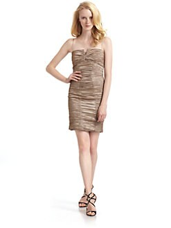 Nicole Miller - Metallic Crinkle Dress/Champagne