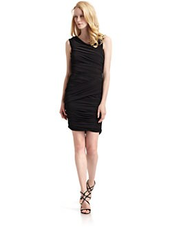 Nicole Miller - Butterfly Pleated Jersey Dress