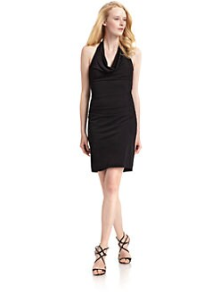 Nicole Miller - Draped Halter Dress/Black