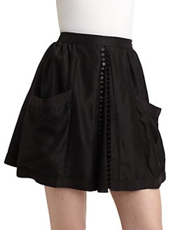 Twenty8Twelve - Audrey Silk Skirt/Black
