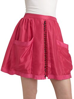 Twenty8Twelve - Audrey Silk Skirt/Pink