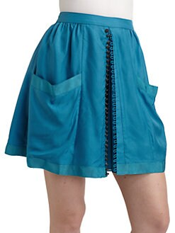 Twenty8Twelve - Audrey Silk Skirt/Blue