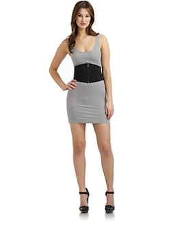 Twenty8Twelve - Suraya Belted Tank Dress/Grey