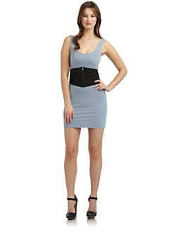 Twenty8Twelve - Suraya Belted Tank Dress/Blue